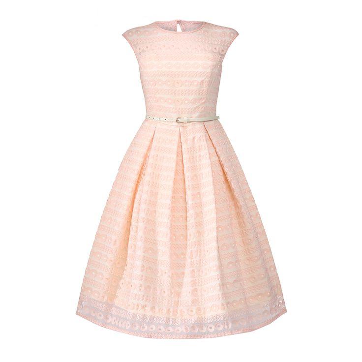 Harlow Blush Pink Occasion Dress | Vintage Style Dresses - Lindy Bop