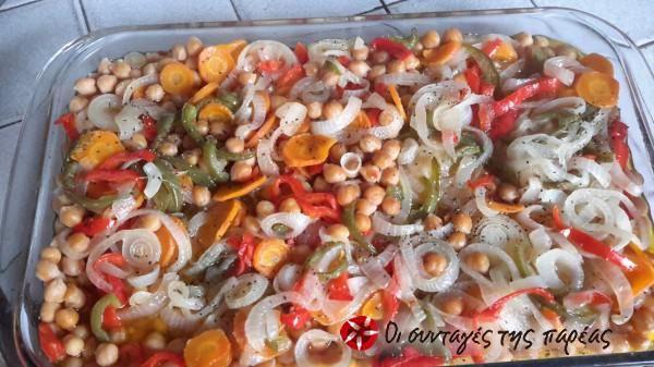Ρεβύθια στο φούρνο με λαχανικά #sintagespareas #revithiafournou
