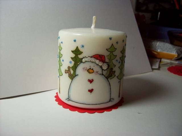 Snowman Candle - 2nd View