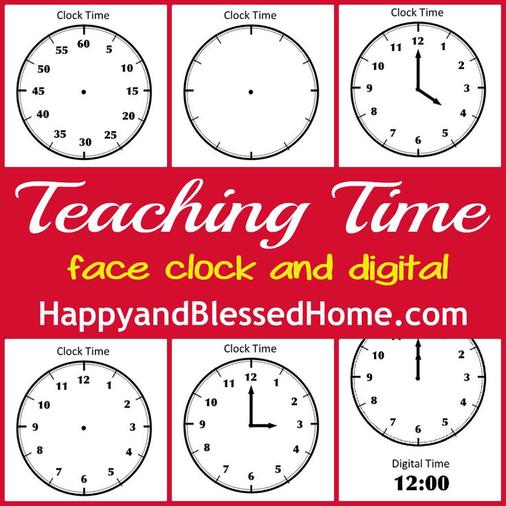 free-printable-face-clock-to-teach-time Face Clock and Digital Clock Free Printables from HappyandBlessedHome.com