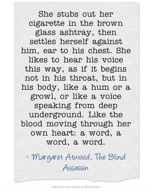 Margaret Atwood, The Blind Assassin Don't Know The Book