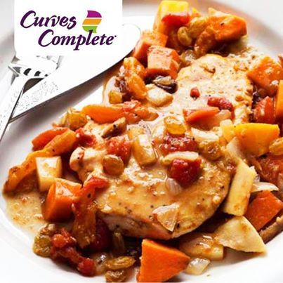 Our Curves Complete program proves that eating healthy doesn't have to be boring! This Moroccan Baked Chicken recipe is part of the Curves Complete Meal Plan, Call 543-9795 to get started today!