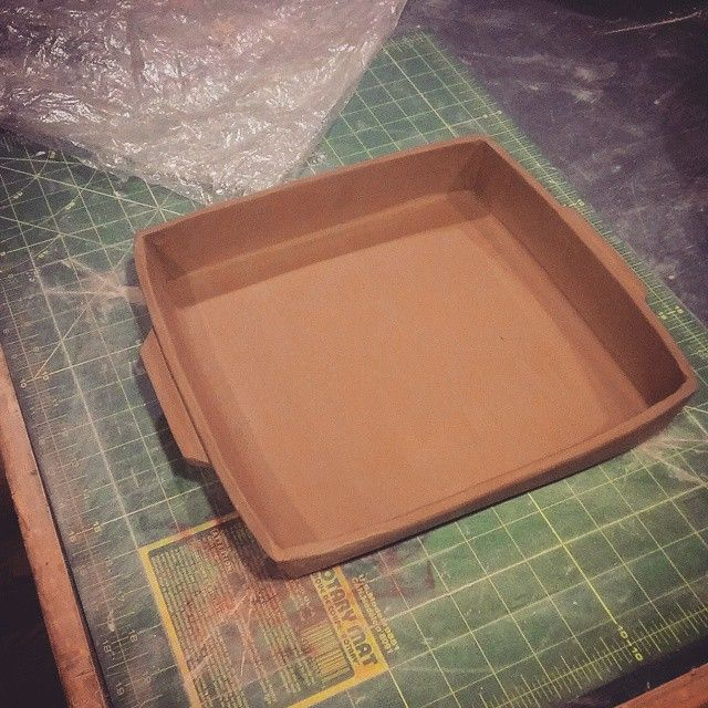 How to make a square baking dish slab method