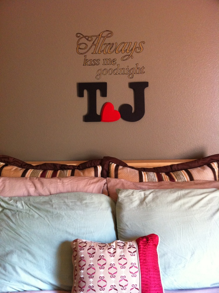 Wall letter decor