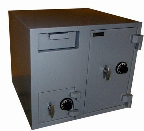 SOUTHEASTERN 2 Door Cash bag Depository Drop Safe with UL Listed 3 Wheel Combination Lock