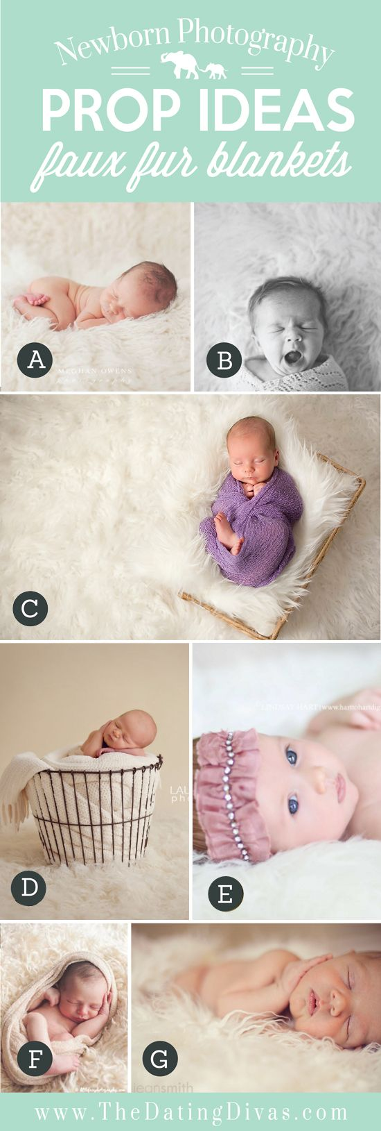 These and lots more ideas for posing baby and family.
