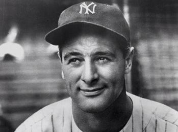 Lou Gherig - the Yankees first baseman in the 1920s and 1930s