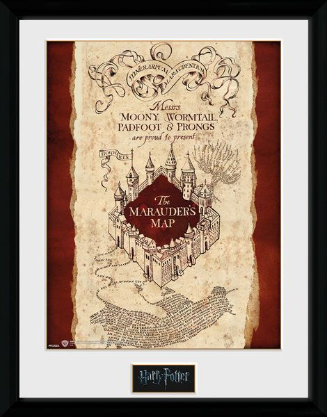 Harry Potter Marauder's Map - Collector Print