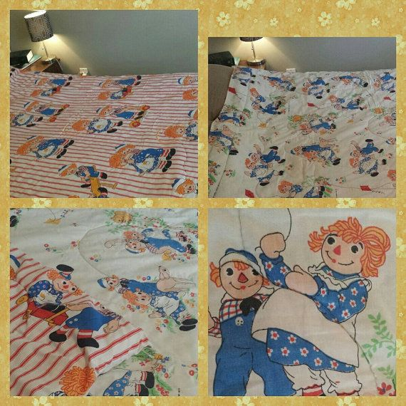 Check out this item in my Etsy shop https://www.etsy.com/ca/listing/237649448/raggedy-ann-comforter-marked-1977