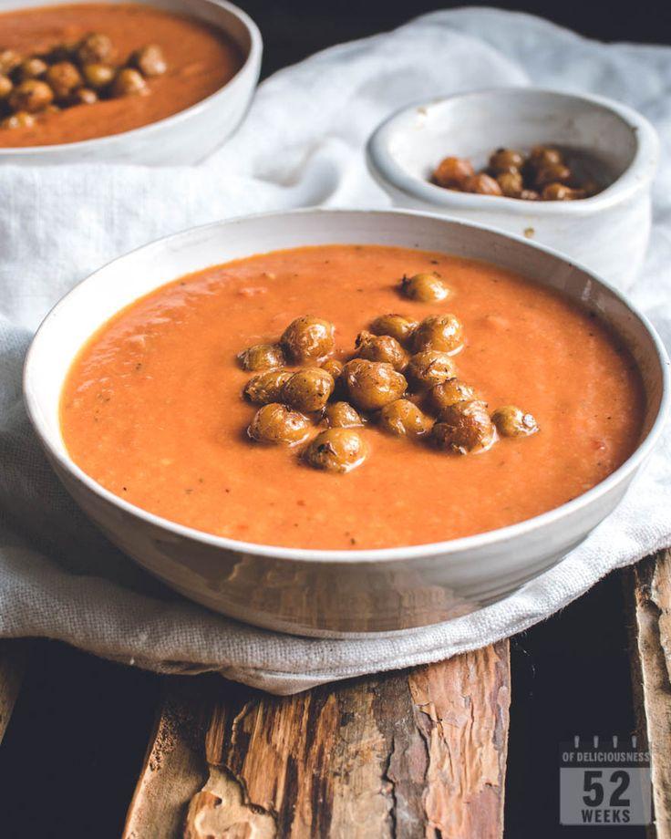 Tomaattikeitto & paahdetut kikherneet