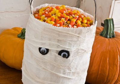 Mummy Trick or Treat Bag