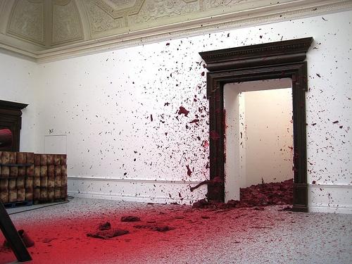 Anish Kapoor #art #installation #red #wax