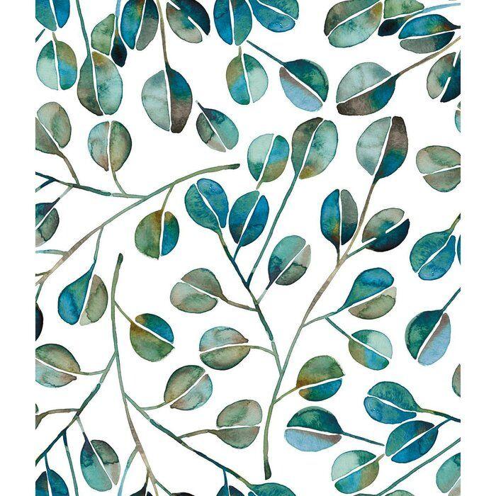 Quinton Eucalyptus 18 86 L X 18 W Peel And Stick Wallpaper Roll Wallpaper Roll Peel And Stick Wallpaper Wallpaper