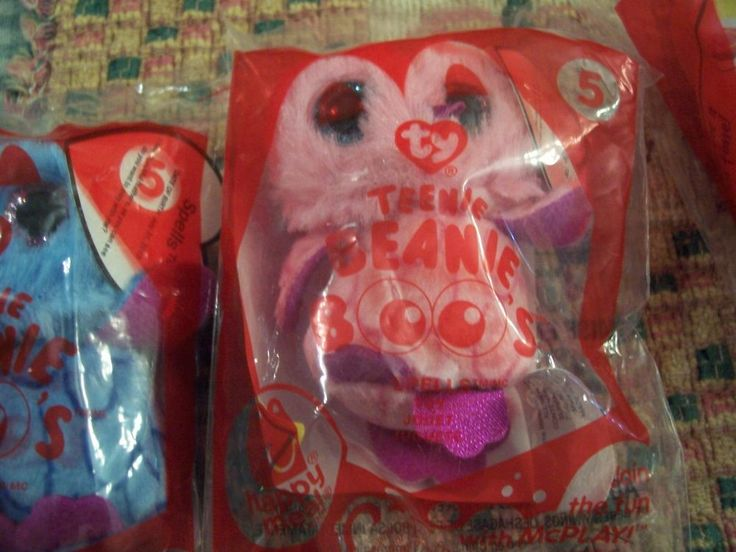 MCDONALDS HAPPY MEAL TY BEANIE BOOS 2014 # 5 PINK OWL NEW ! #McDonalds