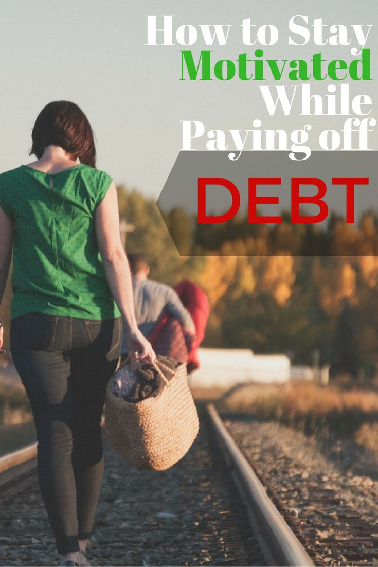 Taking the steps necessary to pay off debt is often a long and arduous process. It's easy to lose sight of the goal to be debt free. Here's how to stay motivated and move toward being debt free.