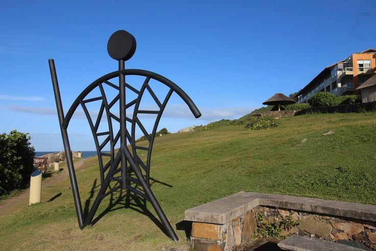 Escultura de Ferro, Costão do Santinho, Norte da Ilha de Santa Catarina, Florianópolis, SC, Brasil
