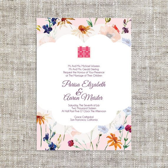 17 Best ideas about Chinese Wedding Invitation – Chinese Wedding Invites
