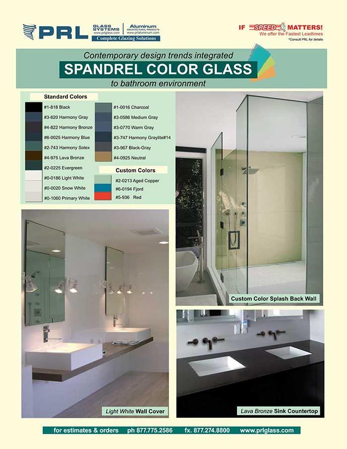Spandrel Shower Splashback Walls Easy Maintenance Boundless Colors Shower Splashback Sandblasted Glass Design Splashback