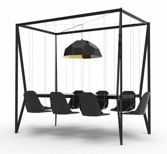 This would be an amazing brainstorming table.: Decor, Idea, Four-Post, Swings Tables, Swings Chairs, Dinners Tables, Fun, Furniture, Duffi London