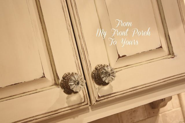 From My Front Porch To Yours: Kitchen Cabinet Painting Tutorial Using Old Ochre ...