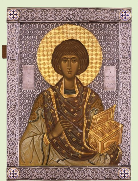 St Panteleimon icon.  Святой Пантелеимон Целитель