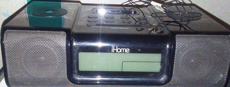 iHome (iH9) Black Ipod Speaker Dock Dual Alarm Clock Radio With the Remote! #iHome