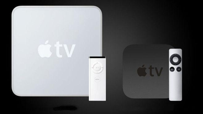 2007:Apple TVUrsprünglich als Hobby gedacht, bietet Apple seit 2007 eine Set-Top-Box für den Fernseher mit direktem Zugang zum iTunes Store. Aufgrund wachsender Beliebtheit von Streaming-Angeboten und immer mehr Apps von Drittanbietern, verkaufte sich die kleine Box inzwischen millionenfach.