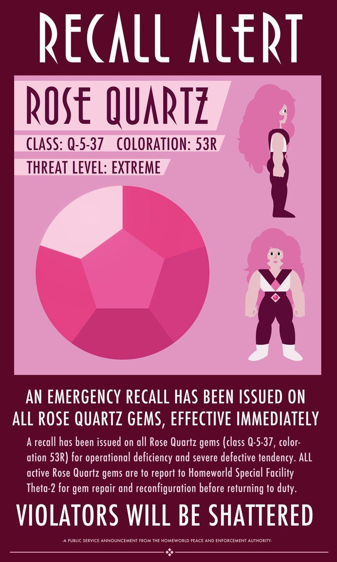 A Homeworld propaganda poster featuring Rose Quartz from Steven Universe.