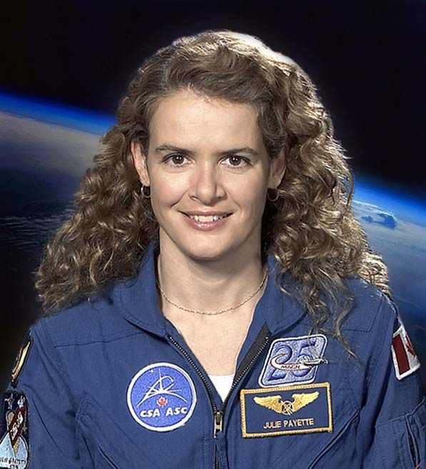 Julie Payette born (1963) and raised in Montreal. She is the second Canadian woman to have flown in space. She is an incredible woman of many talents. Not only is she an astronaut, but Julie is an accomplished musician who has sung with the Montreal Symphonic Orchestra Chamber Choir. She speaks Russian, German, Italian and Spanish as well as being fluent in English and French. This cool Canadian also has a commercial pilot license and approximately 450 hours of flight time on jet aircraft.