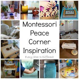 Montessori Peace Corner inspiration for home and school.