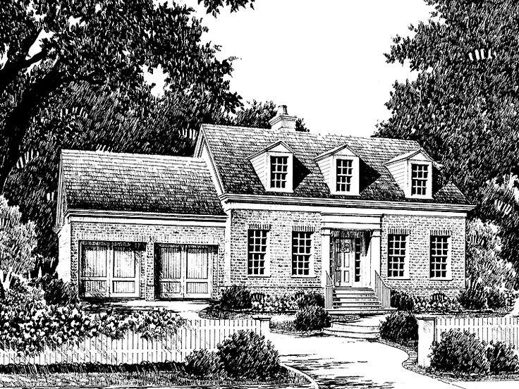 17 best images about cape cod house plans on pinterest for Southern living cape cod house plans