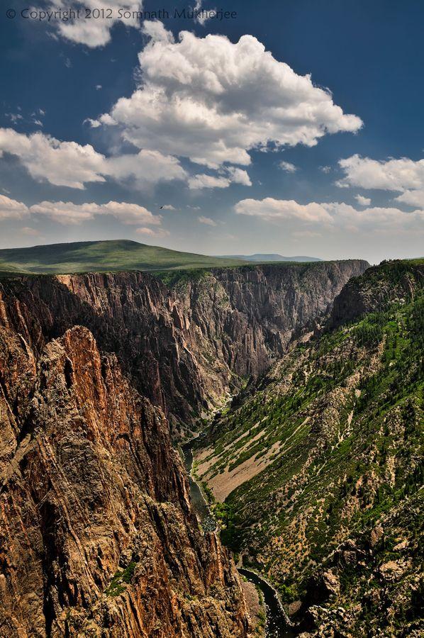 Gunnison River and Black Canyon, Black Canyon of the Gunnison National Park, Colorado by Somnath Mukherjee, via 500px