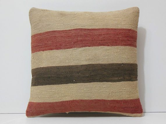 red pillow cover cream pillow case brown by DECOLICKILIMPILLOWS