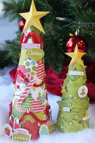 Scrapbooking Christmas Trees