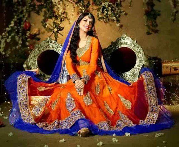 Pakistani Mehndi Dresses 2015 For Girls 0012