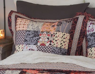 sew chic pillow shams pillow free quilted pillow pattern from the rock n romance collection. Black Bedroom Furniture Sets. Home Design Ideas