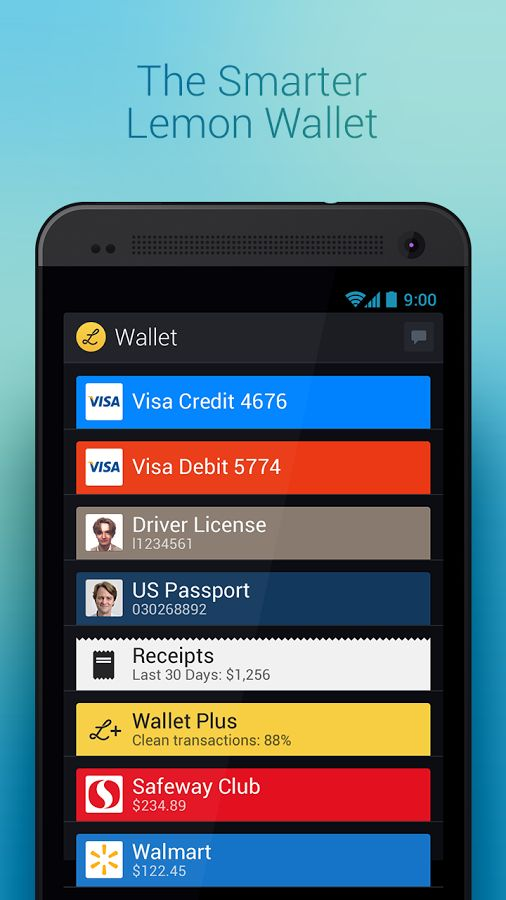 Lemon Wallet, An App for Storing Payment and Loyalty Cards