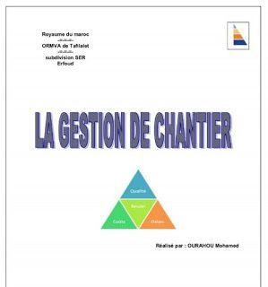Cours gestion de chantier en pdf orga et gestion de for Cours construction batiment pdf