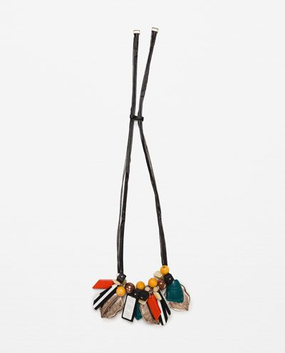 Image 1 of NECKLACE WITH COLOURFUL STONES from Zara