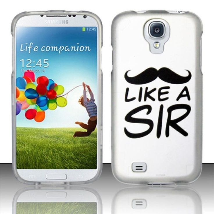 Insten White/ Like a Sir Hard Snap-on Rubberized Matte Case Cover For Samsung Galaxy S4/ S4