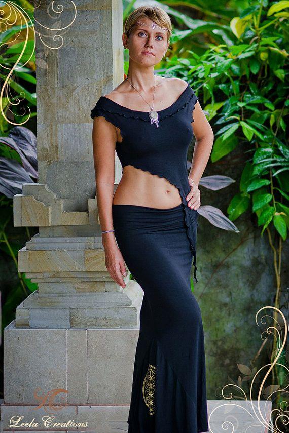 Lange rok van de godin van de zeemeermin met door LeelaCreationsBali