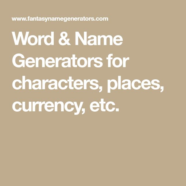 The 25 Best Place Name Generator Ideas On Pinterest