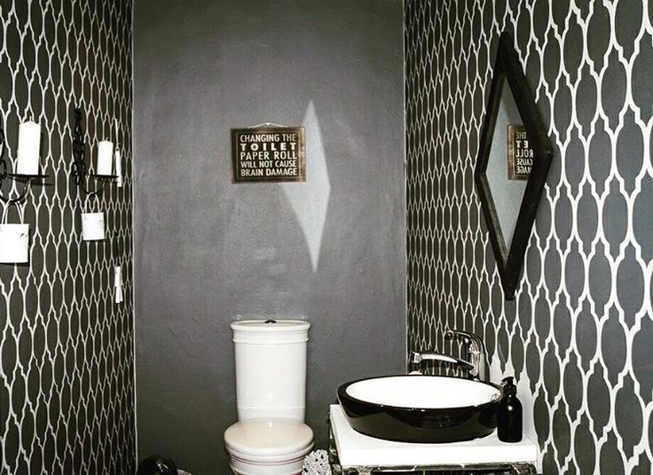 274 best stenciled & painted bathrooms images on pinterest