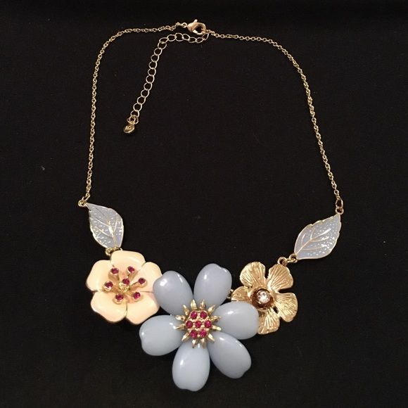 LC Lauren Conrad Floral Fashion Necklace Never worn. Bought from Kohls. Questions and offers welcome! LC Lauren Conrad Jewelry Necklaces