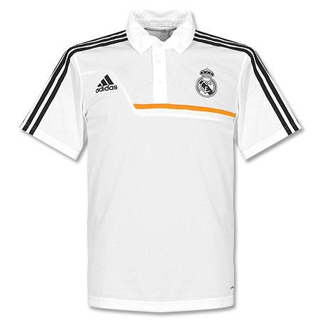 Camiseta tipo Polo del Real Madrid 2013-2014 - Blanco  0ee850fbbec34
