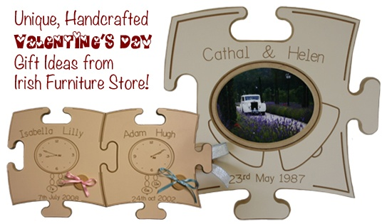 Looking for a unique, handcrafted gift this Valentine's Day? We have a range of puzzle boards that can be personalised to remember a special moment in your life together, visit http://www.irishfurniturestore.com/ to order yours now!