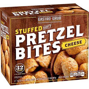 Love these! So much better than the soft pretzel brand then add tostitos medium nacho cheese.