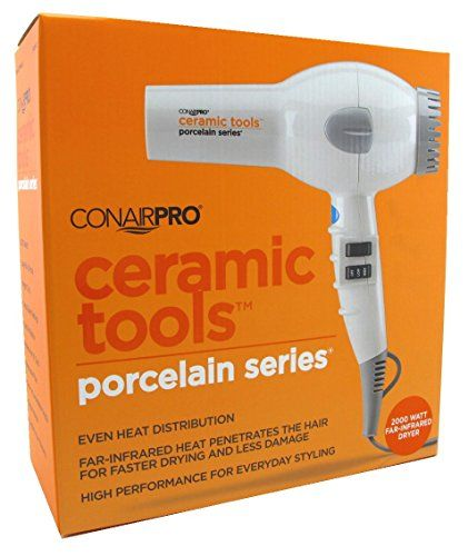 $ 52.46 Conair Pro Ceramic Tools Porcelain Series 2000w FarInfrared Dryer ** Want additional info? Click on the image.