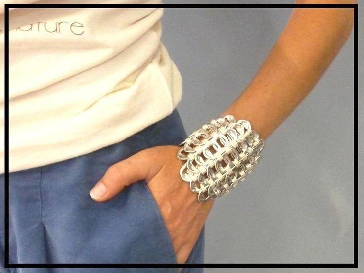 bracelet en opercules de canettes