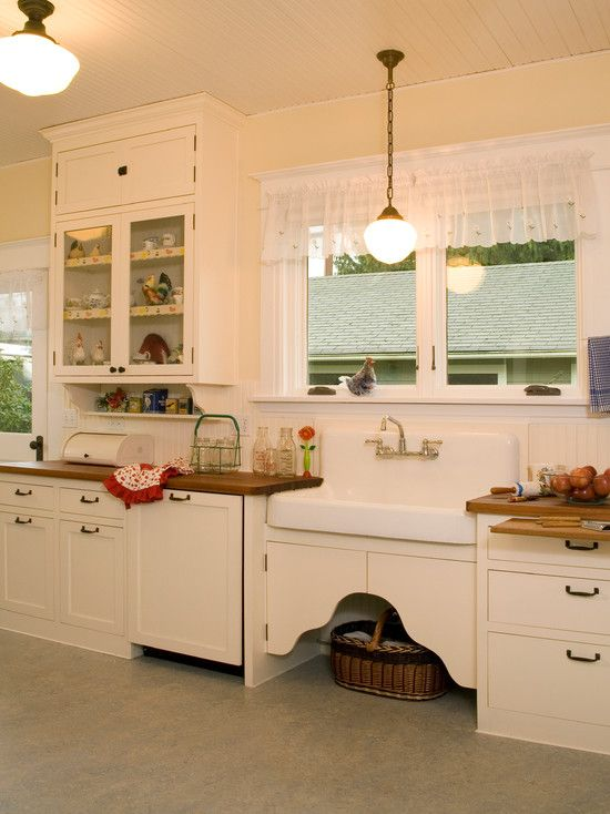 Interior Design Marvelous 1920s Home Decor For Kitchen With Beautiful Transparent Curtains With Classic Windows